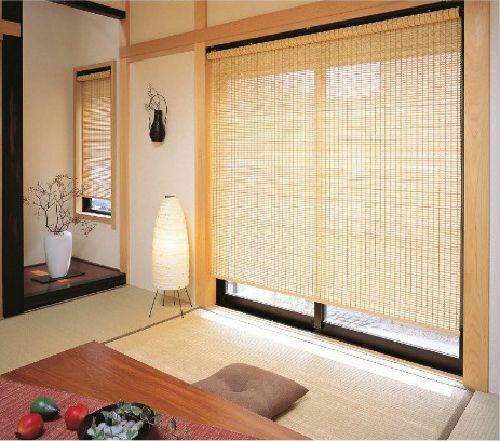 和室 竹製ロールスクリーン ニチベイ望月(竹経木)
