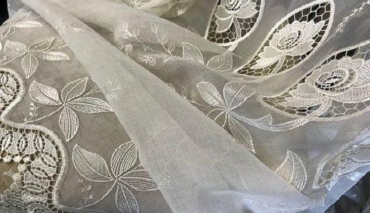 【おしゃれな窓辺の演出・エンブロイダリーレース】華やかな刺繍で窓辺を美しく