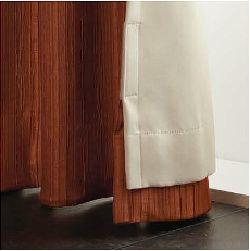 カーテンの遮光裏地をマジックテープで留める方法