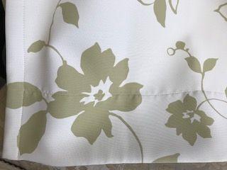遮光付きカーテンの表側