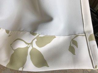 遮光付きカーテンの裏側