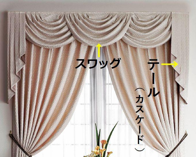 スワッグ&カスケードバランス 画像提供川島織物セルコン