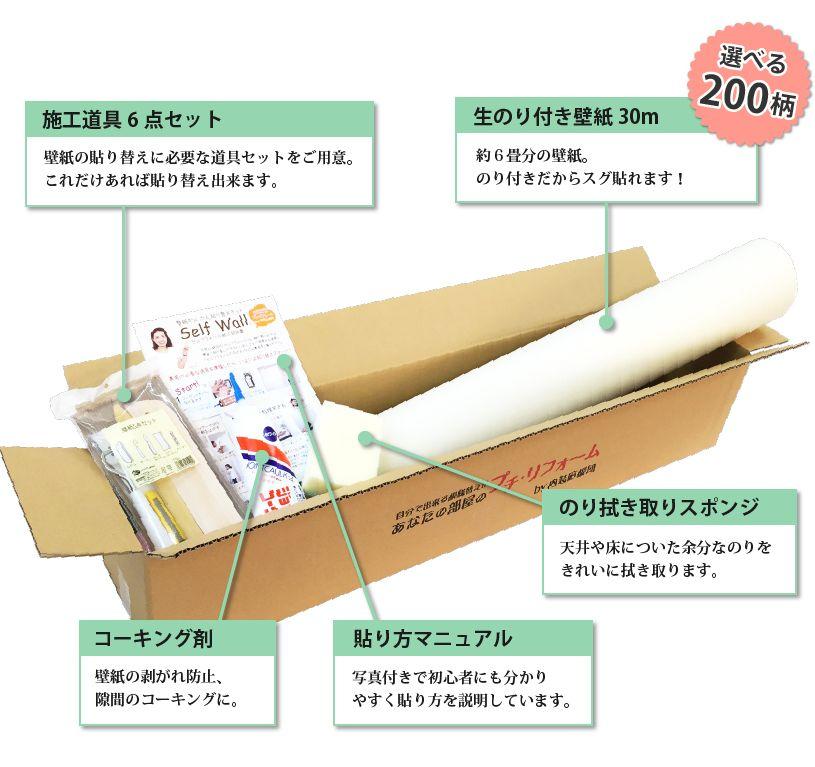 壁紙と道具のセット