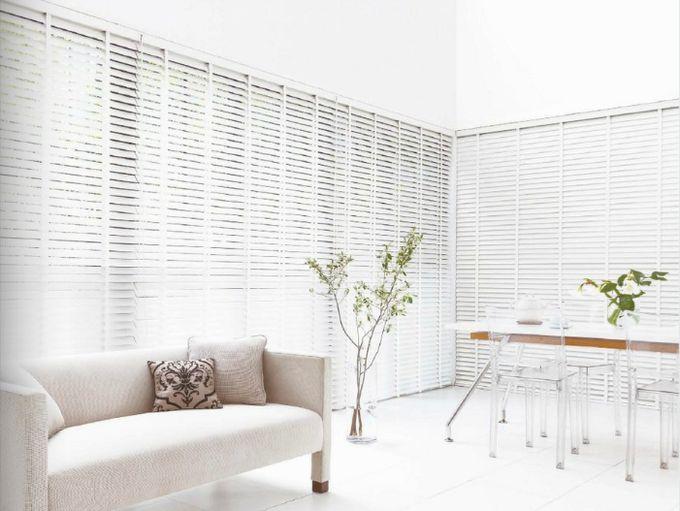 白の木製ブラインド k118 スターホワイト ニチベイ