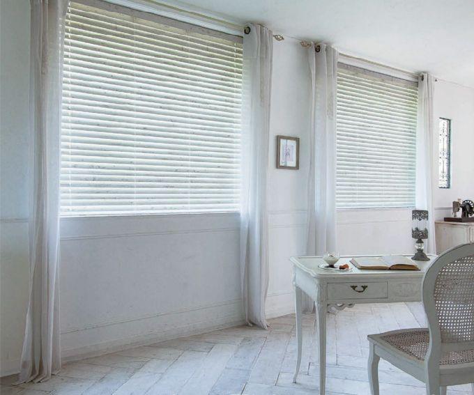 白の木製ブラインド k821 アンティークホワイト