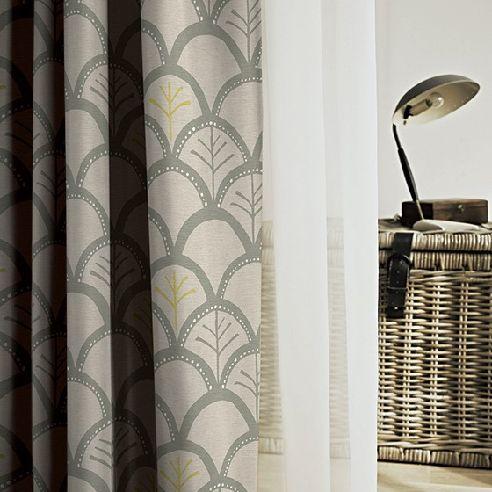 リッカグレー 遮光3級 北欧カーテン