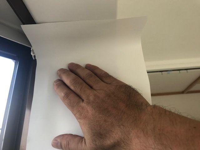 離型紙を外した部分をくっつける