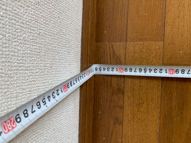 部屋の横幅を計る