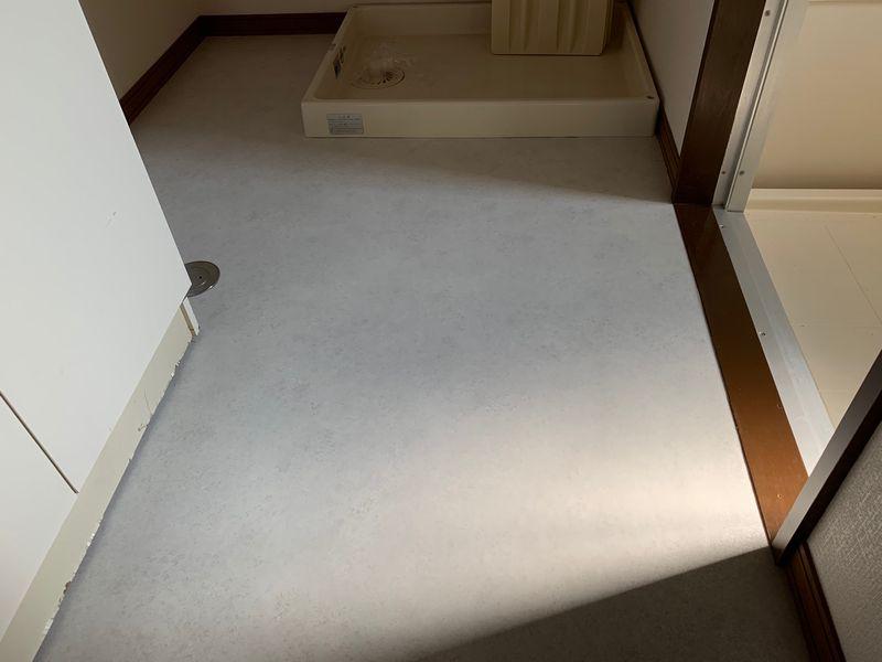 洗面所のクッションフロア張り替え画像