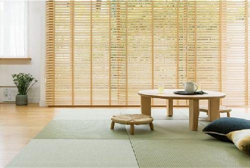 和室に合う 桐の木製ブラインド