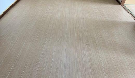 【床にペットの尿】キッチンのフローリングをフロアタイルでリフォーム