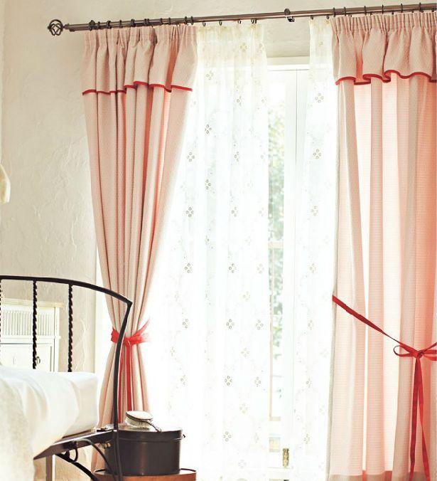 カーテン上飾り ギャザーバランス付きカーテン