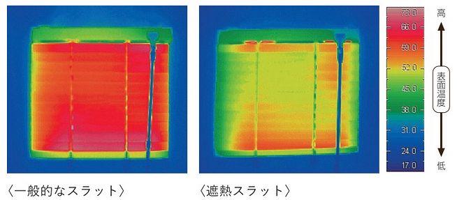アルミブラインド 遮熱 サーモグラフィ—