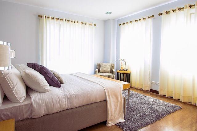 寝室のカーテン事例