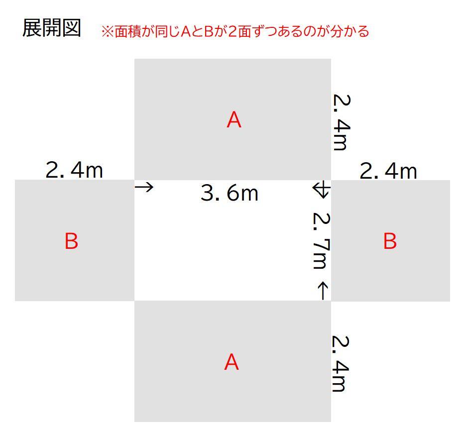 6畳の展開図