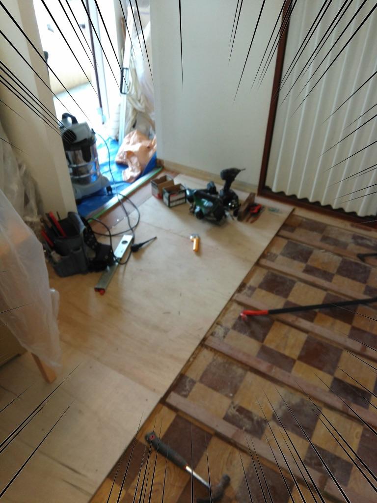 キッチンの床リフォーム1