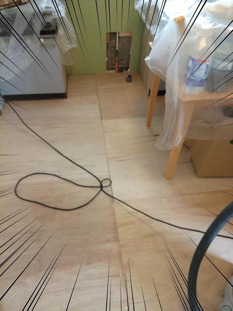キッチンの床リフォーム3