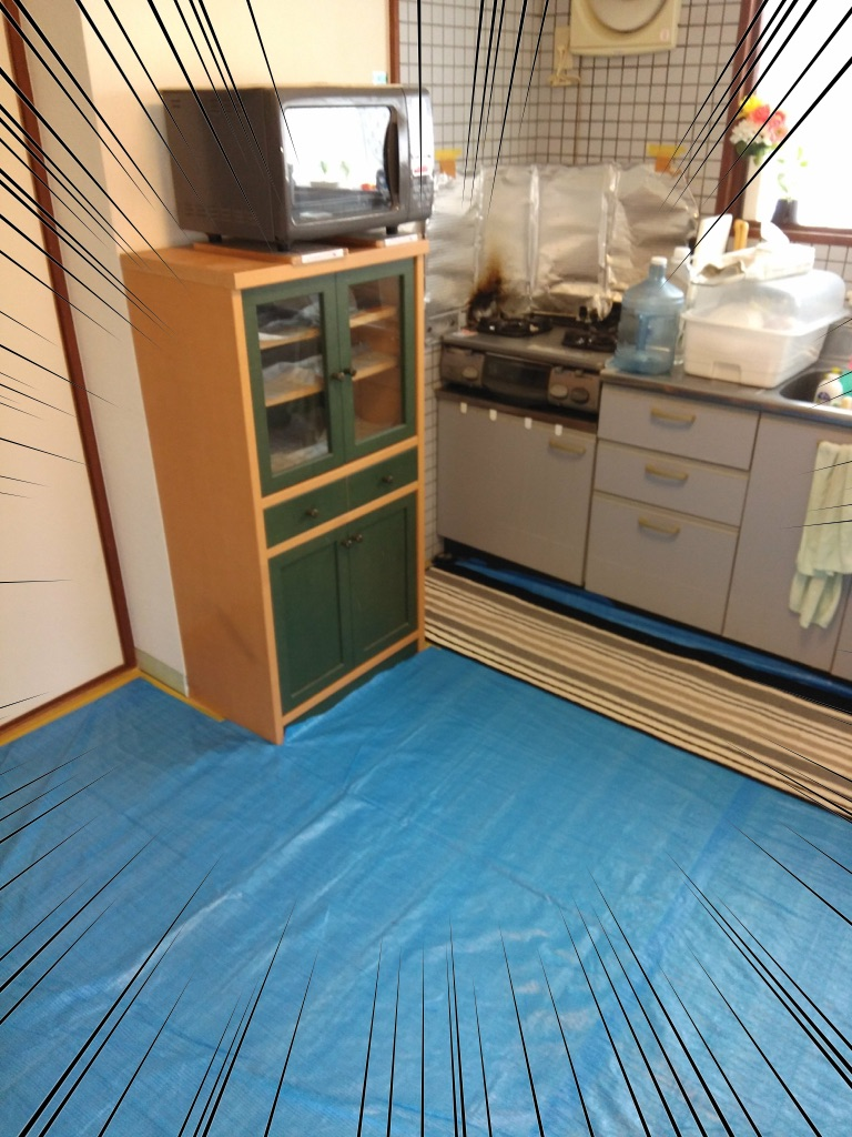 キッチンの床リフォーム4