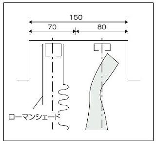 カーテンボックス ローマンシェードとカーテン