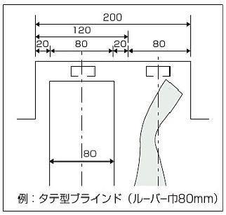 カーテンボックス 縦型ブラインドとカーテン