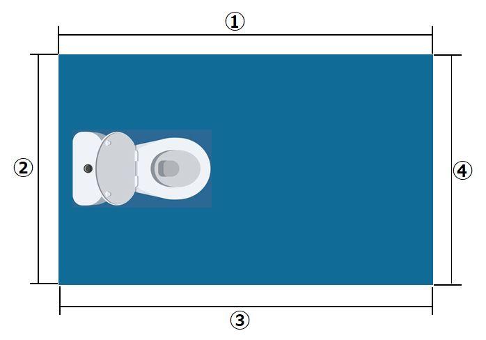 トイレの平面図