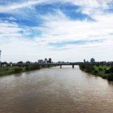 台風による河川の氾濫