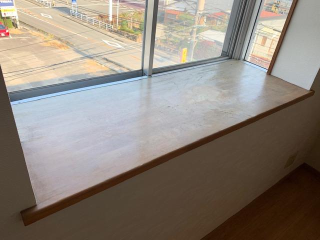 出窓天板の掃除