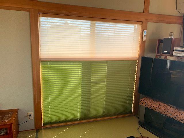 和室の鴨居 プリーツスクリーン ツインスタイル
