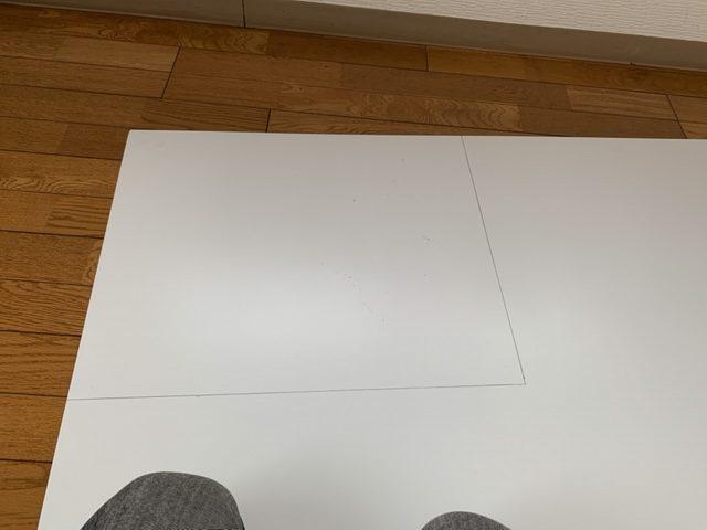 型紙でラインが引けた画像