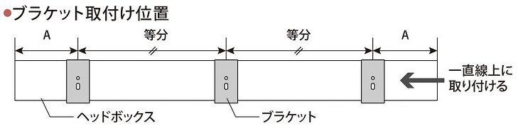 ハニカムスクリーン ブラケットの取付け位置
