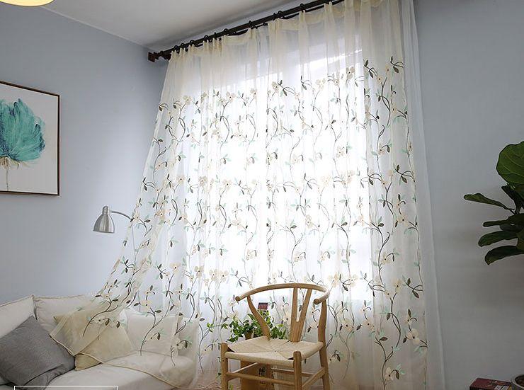 エレガントな刺繍レースカーテン