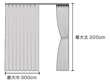 カーテン専用洗濯ネットが使えるサイズ