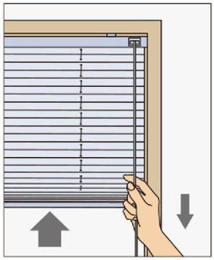 タチカワ プリーツスクリーンシングルの操作方法 コード式