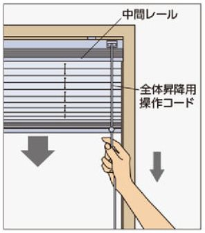 タチカワプリーツスクリーン ペア コード式の操作方法