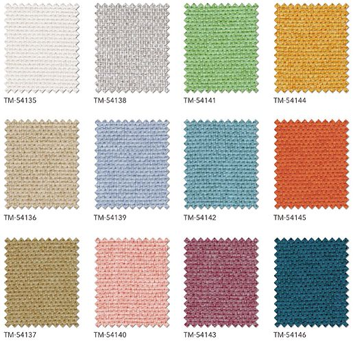 リリカラカーテンの非遮光生地12色