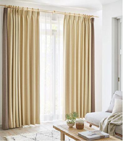 遮光カーテンのサイドボーダースタイル