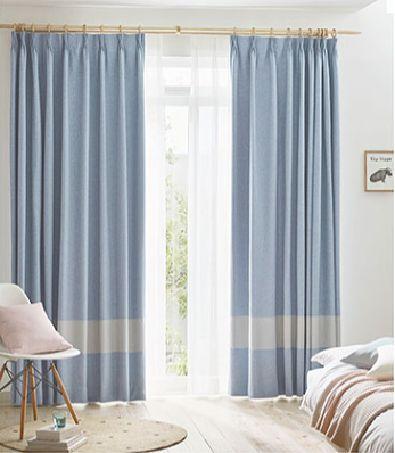 遮光カーテンのスリムボーダースタイル