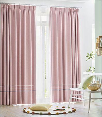 遮光カーテンのバイアスボーダースタイル