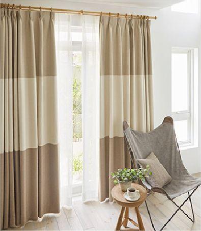 遮光カーテンのミックスボーダースタイル